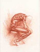 Anatomical Study, Seated Male 1